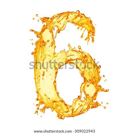 Orange liquid splash alphabet - stock photo