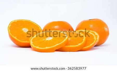 Orange mandarin - stock photo