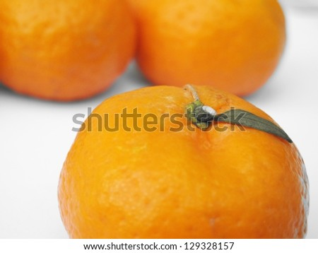 Orange mandarin or tangerine - stock photo