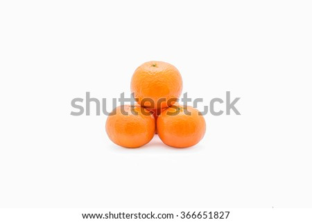 Orange on a white background Clipping Path . - stock photo