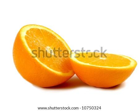 Orange on the white - stock photo