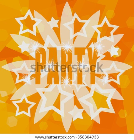 Orange party background - stock photo