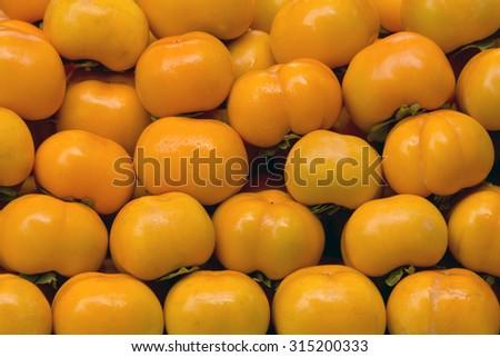 Orange Persimmons - stock photo