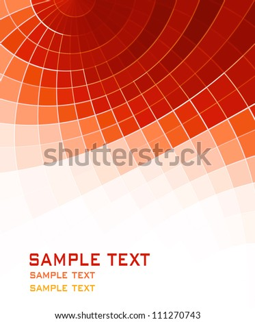 orange red abstract background - stock photo