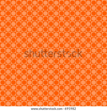 Orange retro dot background - stock photo