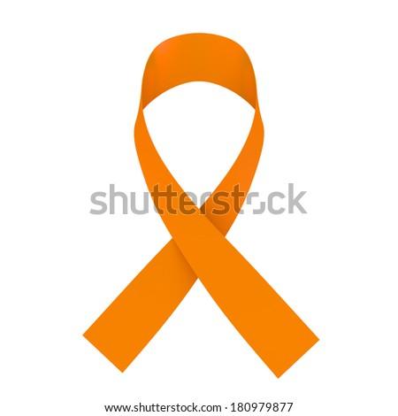 Orange ribbon - stock photo