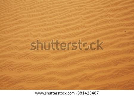 Orange rippled sand - stock photo