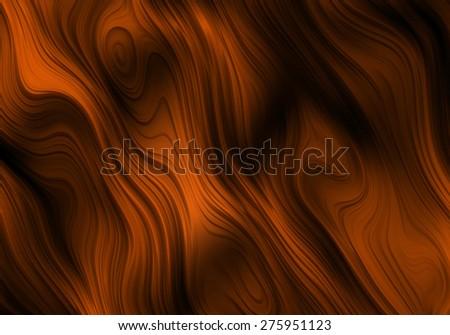 Orange Ripples Abstract Background Bitmap Illustration - stock photo