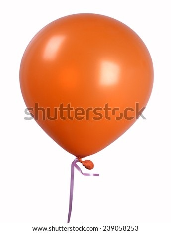 Orange Single balloon - stock photo
