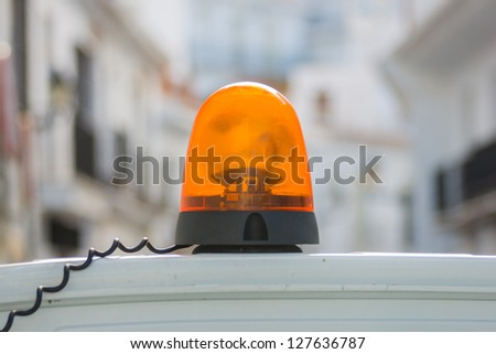 orange siren - stock photo