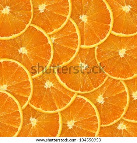 orange slices background - stock photo
