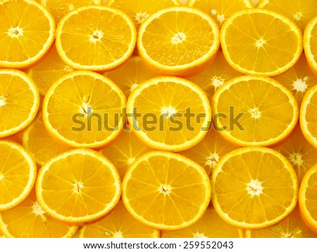 orange slices background - stock photo
