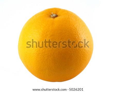 Orange solated on white background. - stock photo