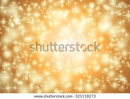 Orange star background - stock photo