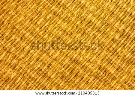 Orange Textile Background - stock photo