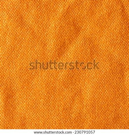 Orange Textile Background Square/ Orange Textile Background  - stock photo
