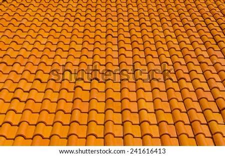 orange tiles roof for background. - stock photo