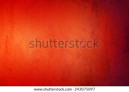 orange  to dark red gradient color with grunge texture abstract background - stock photo