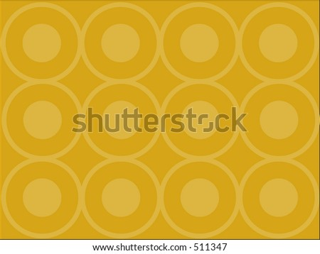 Orange vector background with circles - stock photo