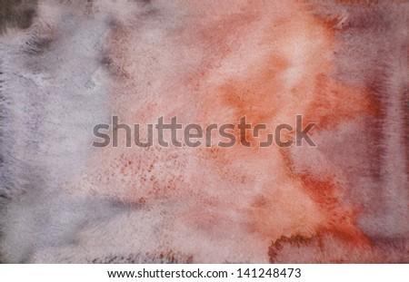 orange watercolor background - stock photo