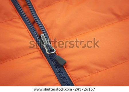 Orange waterproof canvas with zip lock background - stock photo