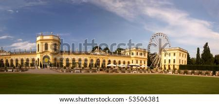 Orangerie castle in Kassel, Germany - stock photo
