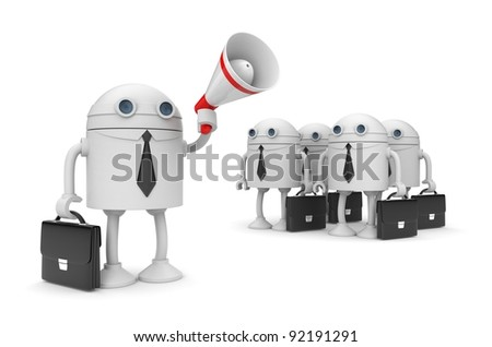 Orator - stock photo