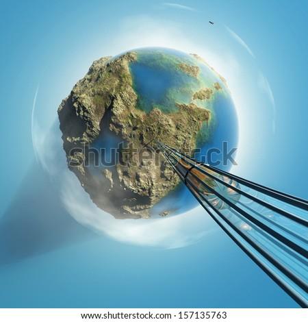 orbital express - stock photo