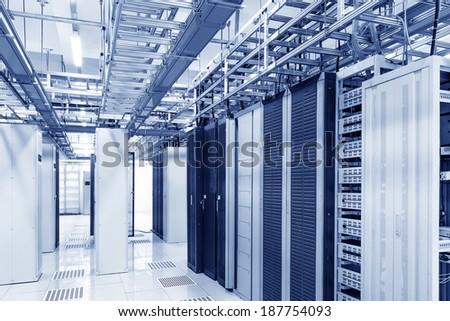 orbital in the Telecommunication room - stock photo