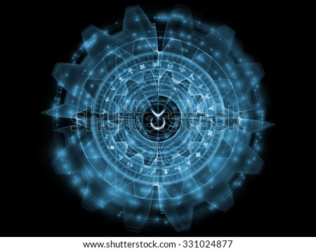 Orbits of Destiny series. Background composition of  sacred symbols, signs, geometry and designs to complement your layouts on the subject of astrology, alchemy, magic, witchcraft and fortune telling - stock photo