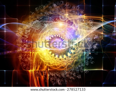 Orbits of Destiny series. Interplay of sacred symbols, signs, geometry and designs on the subject of astrology, alchemy, magic, witchcraft and fortune telling - stock photo