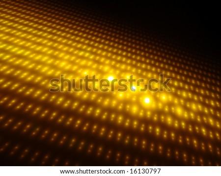 Orbs of Gold 3D - Fractal Design - stock photo