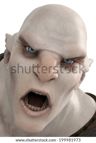 orc face - stock photo