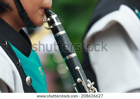 Orchestra is play a musical instrument - stock photo