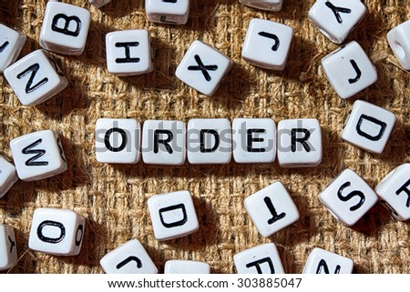 ORDER word on white blocks concept - stock photo