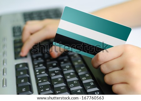 Ordering online with a Credit Card - stock photo