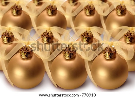 Orderly Christmas bulbs. - stock photo
