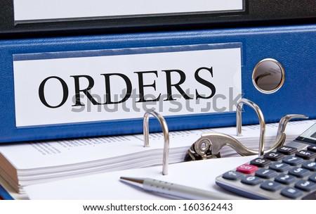 Orders - stock photo