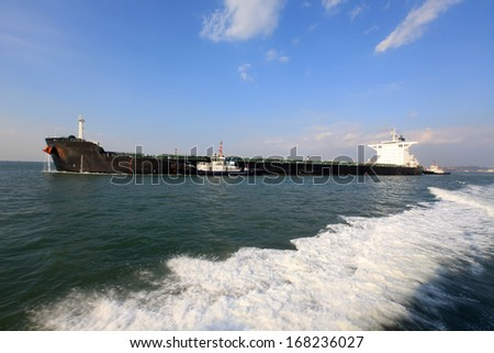Ore carriers - stock photo