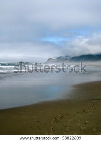 Oregon Coast - Lincoln City - stock photo