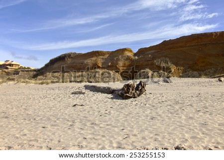 Oregon coastal erosion Lincoln City beaches; - stock photo