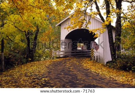 Oregon Covered Bridge - stock photo