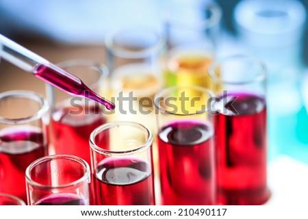 Organic chemistry. - stock photo