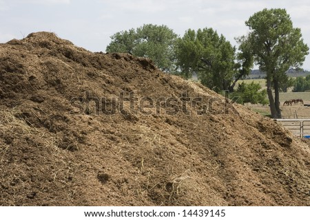 Organic Compost Pile - stock photo