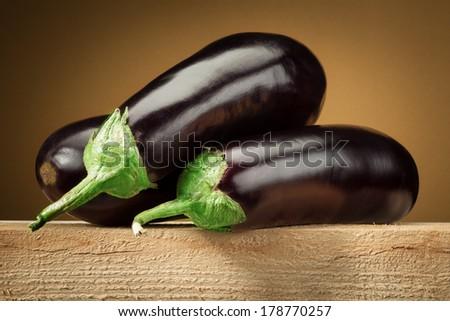 Organic eggplant (aubergine) - stock photo