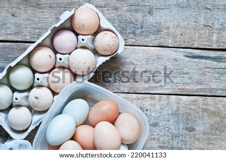 Organic eggs - stock photo
