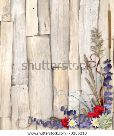 Organic Floral Background Design 2 - stock photo