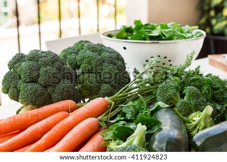 Organic fresh vegetables - stock photo