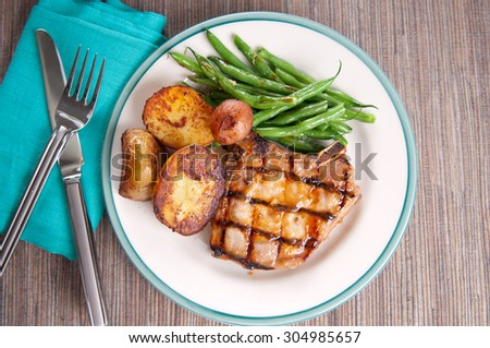 Pan-Roasted Pork Chops With Baked Beans And Agrodolce Recipes ...