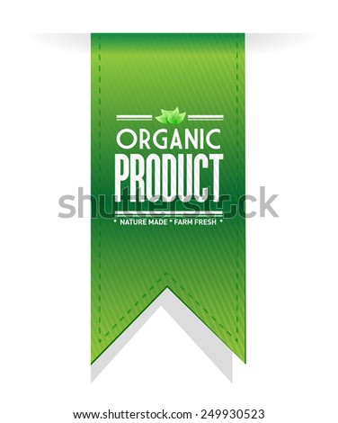 organic product banner sign illustration design over a white background - stock photo